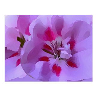 Postal Flor abstracta rosada violeta del hibisco
