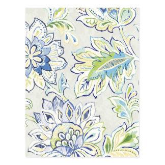 Postal Flor azul bohemia