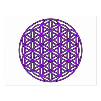 Postal Flor de la púrpura de la vida