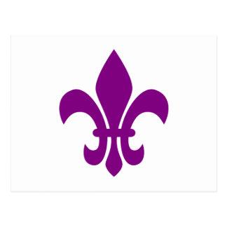 Postal Flor de lis púrpura