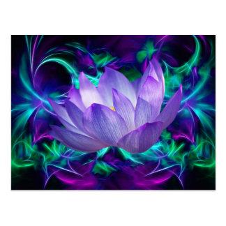Postal Flor de loto púrpura y su significado