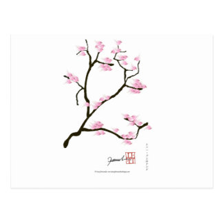 Postal flor de Sakura con los pájaros rosados, fernandes