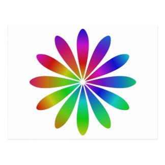 Postal Flor del arco iris