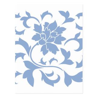 Postal Flor oriental - azul de la serenidad