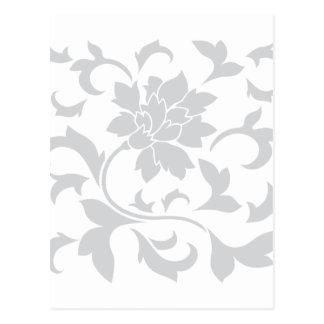 Postal Flor oriental - plata