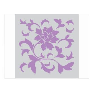 Postal Flor oriental - plata de la lila