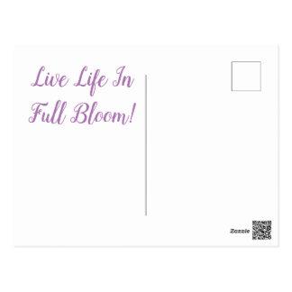 Postal Flor-Postal de la lila