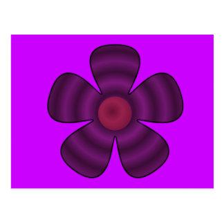 Postal flor púrpura