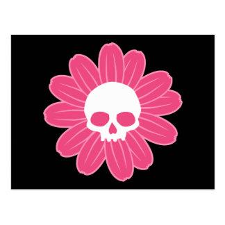 Postal Flor rosada del cráneo