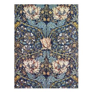 Postal Flor William Morris de la madreselva