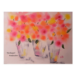 Postal Floraciones de Bubblegum