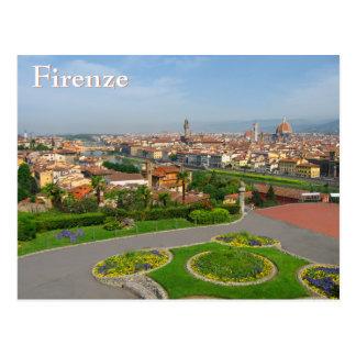Postal Floraciones de la primavera en Florencia