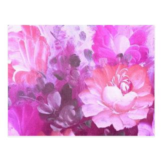Postal floral de la acuarela