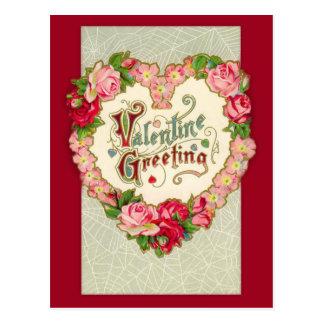 Postal floral de la tarjeta del día de San
