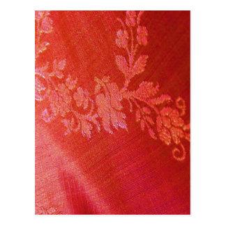 Postal floral roja de la elegancia I - personaliza