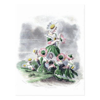 Postal Flores animadas Grandville de la margarita de las