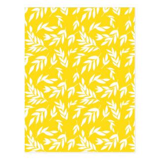 Postal Flores en amarillo de la miel