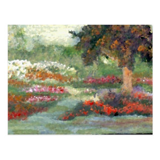 Postal Flores Sunlit del estilo impresionista alegre de