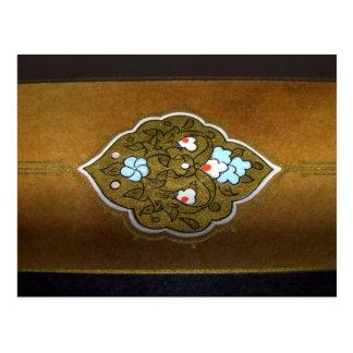 Postal Flores y ornamentos de la caligrafía