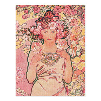Postal Florista color de rosa rosado elegante elegante