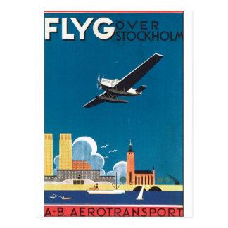 Postal FlyG sobre el poster del viaje del vintage de