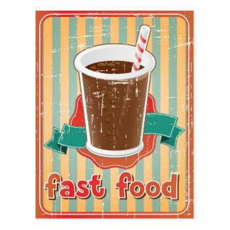 Postal Fondo de los alimentos de preparación rápida con