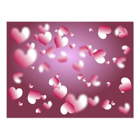 Postal fondo de los corazones