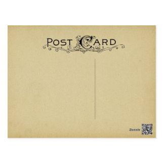 Postal Fondo en blanco del beige del vintage del