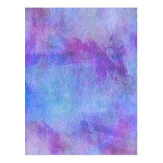 Postal Fondo púrpura de la acuarela del trullo violeta