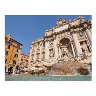 Postal Fontana di Trevi en Roma, Italia