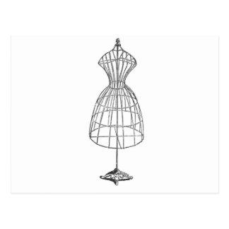 Postal Forma del vestido del Victorian