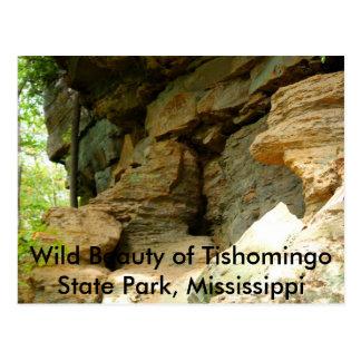 Postal Formación de roca de Tishomingo II