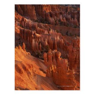 Postal Formaciones de roca dentadas