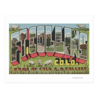 Postal Fort Collins, Colorado - escenas grandes de la