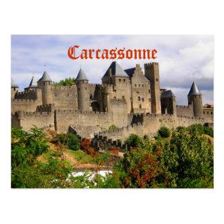 Postal Fortaleza de Carcasona en Francia