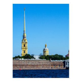 Postal Fortaleza St Petersburg Rusia de Peter y de Paul