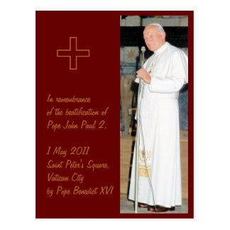 Postal Foto adaptable de papa John Paul 2