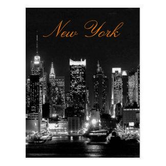 Postal Foto blanca negra del viaje de New York City del