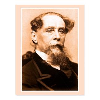 Postal Foto Charles Dickens del arte