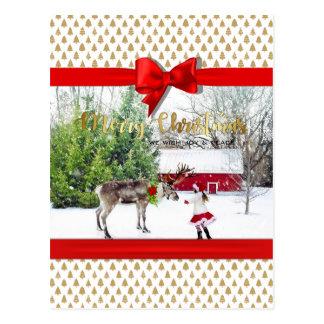 Postal Foto de la alegría y de la paz del navidad
