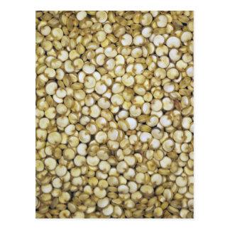 Postal Foto de la macro de los granos de la quinoa