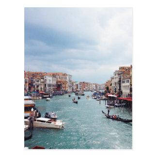 Postal Foto del canal de Italia Venecia del vintage