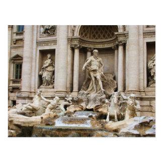 Postal Foto del viaje de Roma Italia de la fuente del