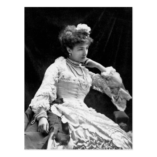 Postal Foto del vintage de Sarah Bernhardt - 1877