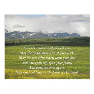 Postal Foto irlandesa del valle verde de la bendición