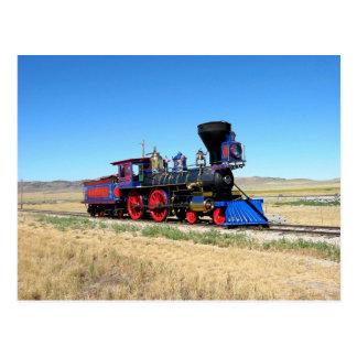 Postal Foto locomotora del tren del motor de vapor
