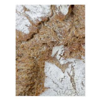 Postal Foto macra de la superficie del pan marrón