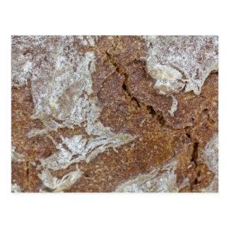 Postal Foto macra de la superficie del pan marrón de Ger