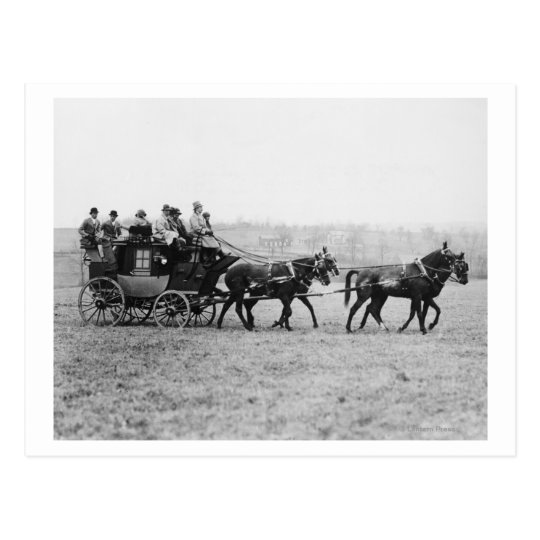 Postal Fotografía de la raza del campo a través de la