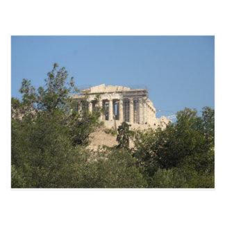 Postal Fotografía de las ruinas del Parthenon del griego